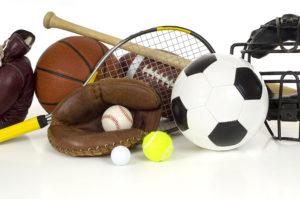 Sports Equipment on White